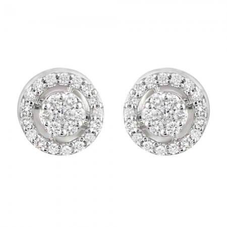 31874,31873 - 18ct Gold Diamond Earstuds