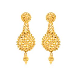 31919 - 22ct Gold Bridal Earring
