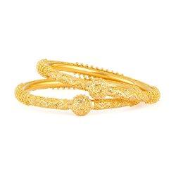 31921,31920 - 22ct Gold Jali Kada Bangles