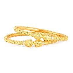31923,31922 - 22ct Gold Jali Kada Bangles