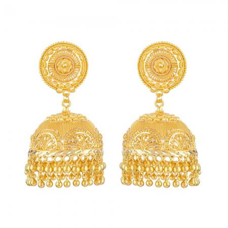 31990 - 22 Carat Gold Asian Jhumka