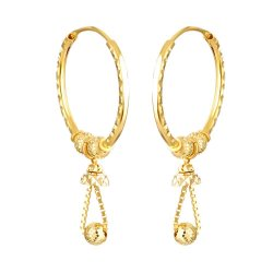31963 - 22 Carat Gold Hoop Earring