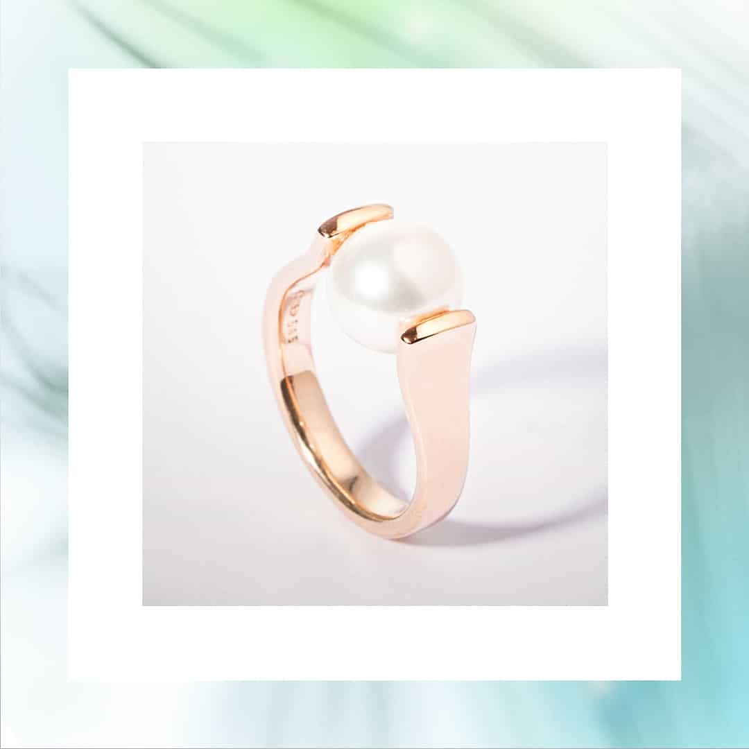 20941 - Rose Gold Pearl Ring