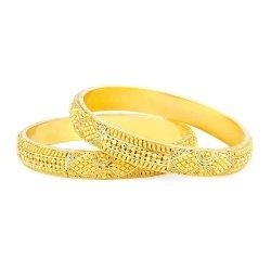 23325,23326 - 22ct Gold Jali Kada Bangles