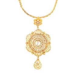 27088 - 22ct Gold Kundan Pendant