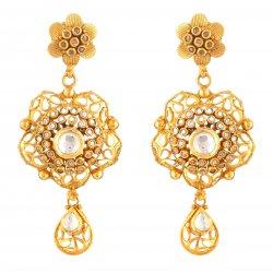 27089 - 22ct Gold Kundan Earrings