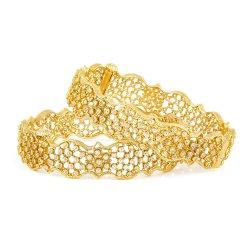28499,28499 - 22ct Gold Polki Kada Bangles