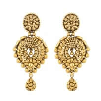 28719 - 22 Carat Gold Antique Finish Earring