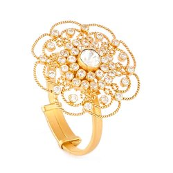 28773 - Anusha 22ct Gold Polki Ring