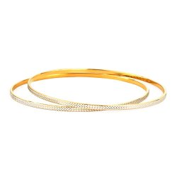 32028,32033 - 22ct Gold Bangles Rhodium Plated