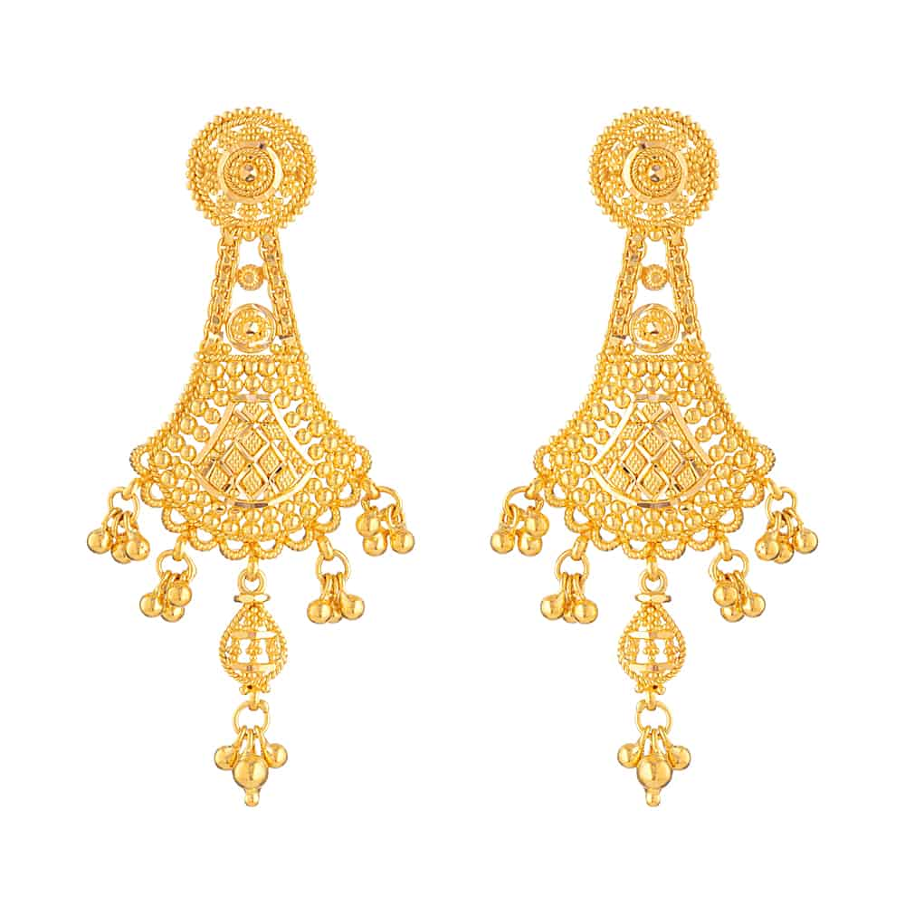 22ct Gold Earring -32084
