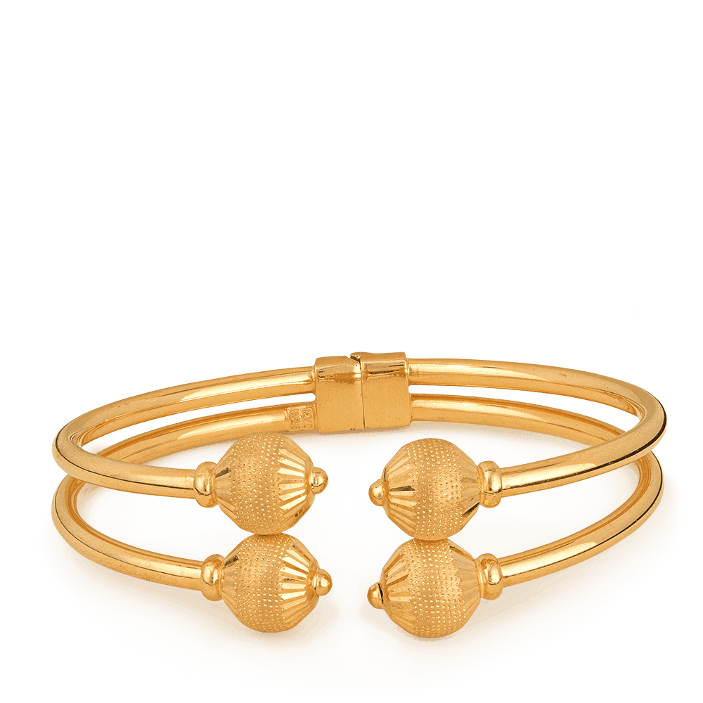 22ct Gold Sparkle Bangle BraceletWeight:26gmGold Hallmarked by London Assay OfficeAll Bangles Come With Presentation BoxDelivery IncludedAll prices include VATLive chat with us for availability and more images of similar designs currently in stock