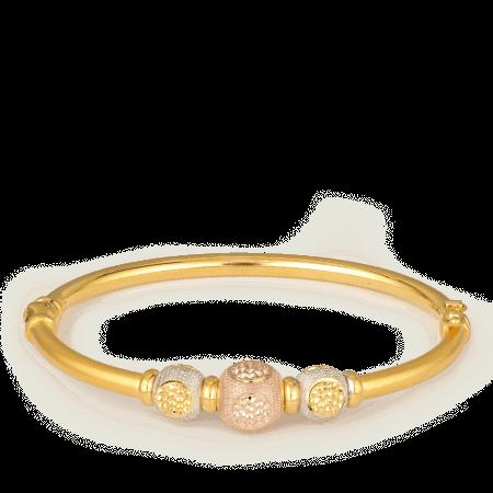 27438 - 22ct Gold Sparkle Bangle Bracelet