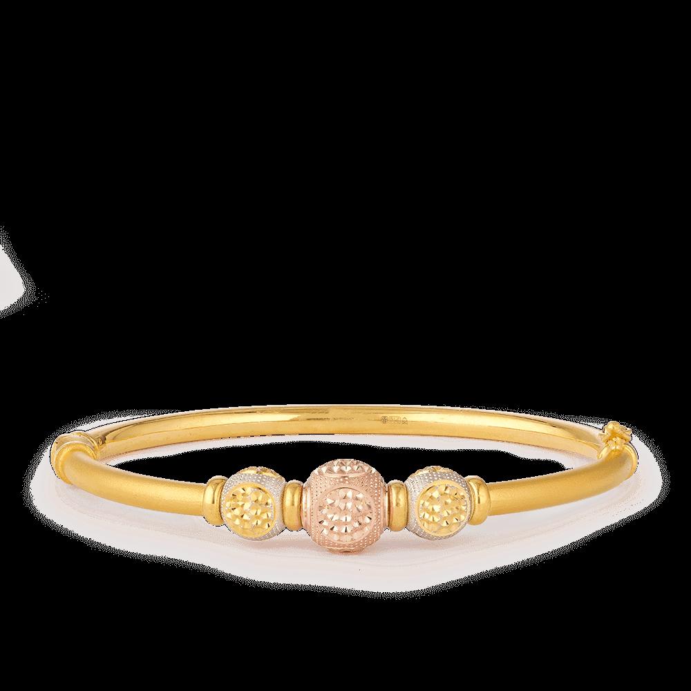 28123 - 22ct Gold Sparkle Bangle Bracelet
