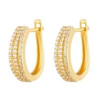 32265 - 22ct Gold CZ Earrings