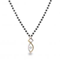 5565 - 18ct White Gold Mangalsutra  7 gm Diamond  0.9ct