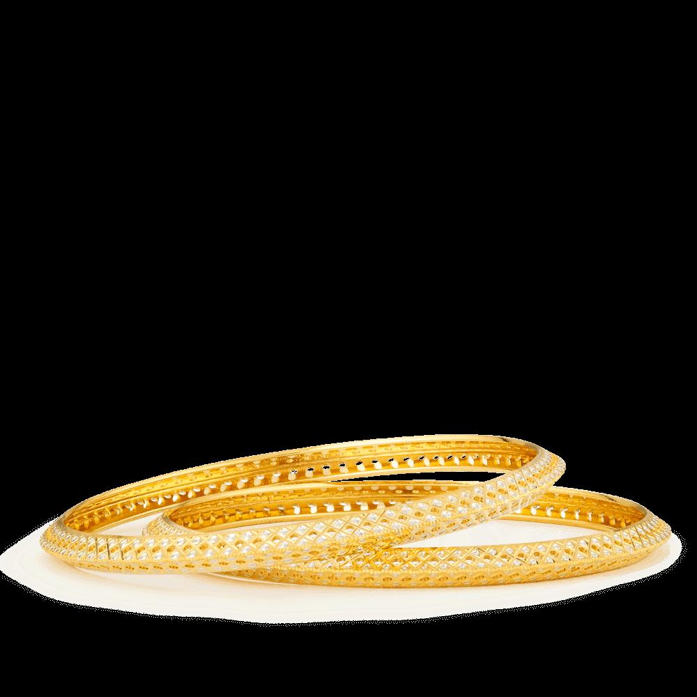 22ct Gold Bangle Set -32613-32614