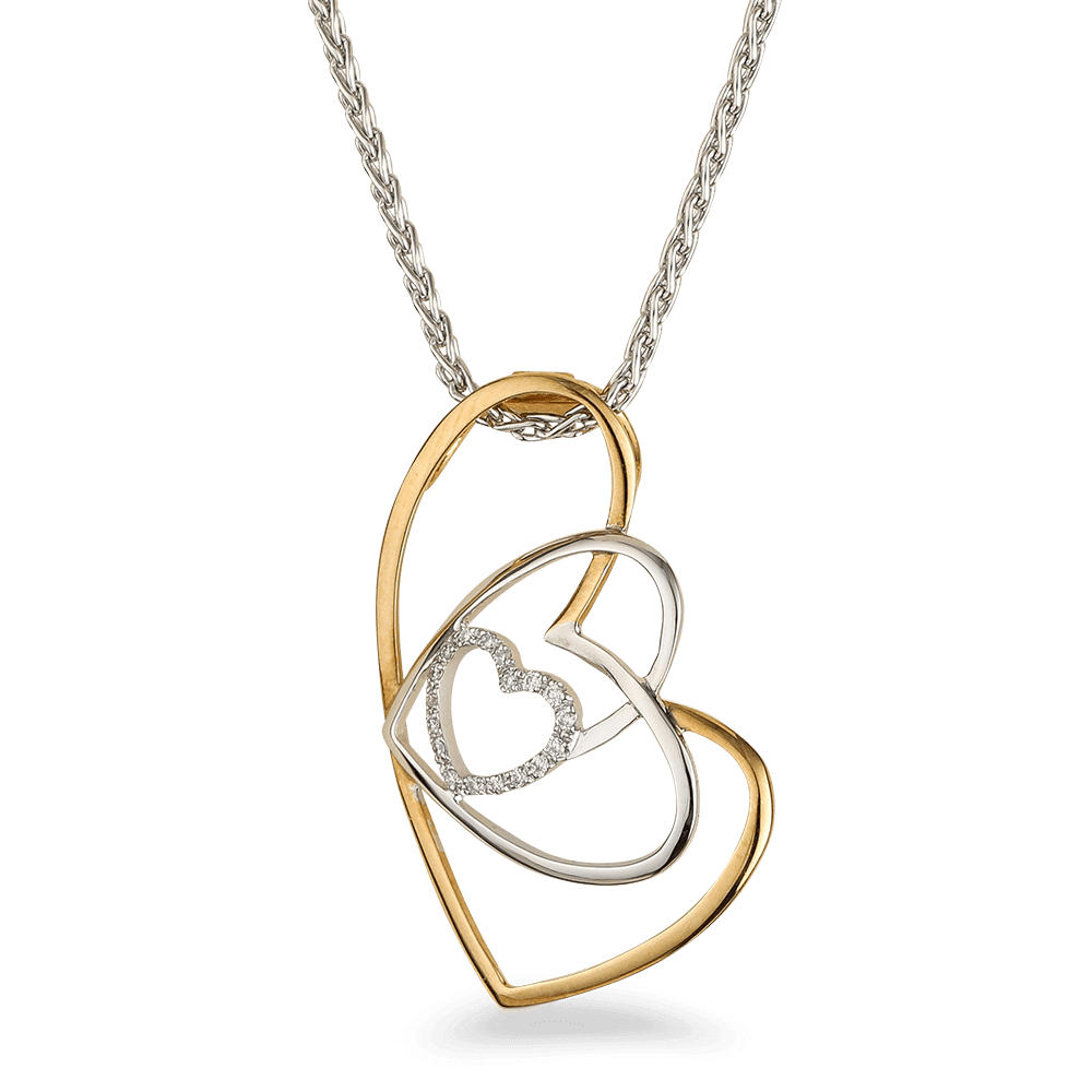 18ct White Gold Pendant with DiamondsTriple Heart shaped pendantChain not included.wt. 1.3 gAll prices include VATAll our Products are Hallmarked by London Assay OfficeAll Set Comes With Presentation BoxDelivery Includedcontact us/live chat with us for video of product