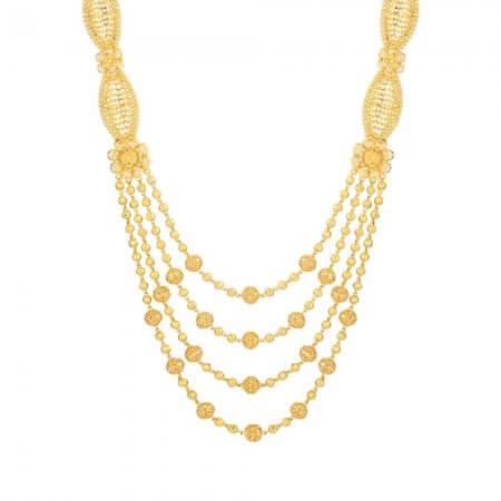 26752 - 22ct Gold Char Ladda Rani Haar