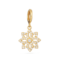 32758 - 22 Kt Gold Pendant with Cz stones