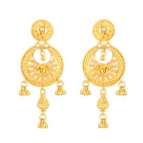 - 22ct Chand Bali Bridal Earrings