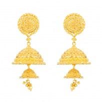 32359 - 22ct Indian Gold Jhumkha