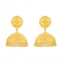 32365 - 22 Carat Gold Asian Jhumka