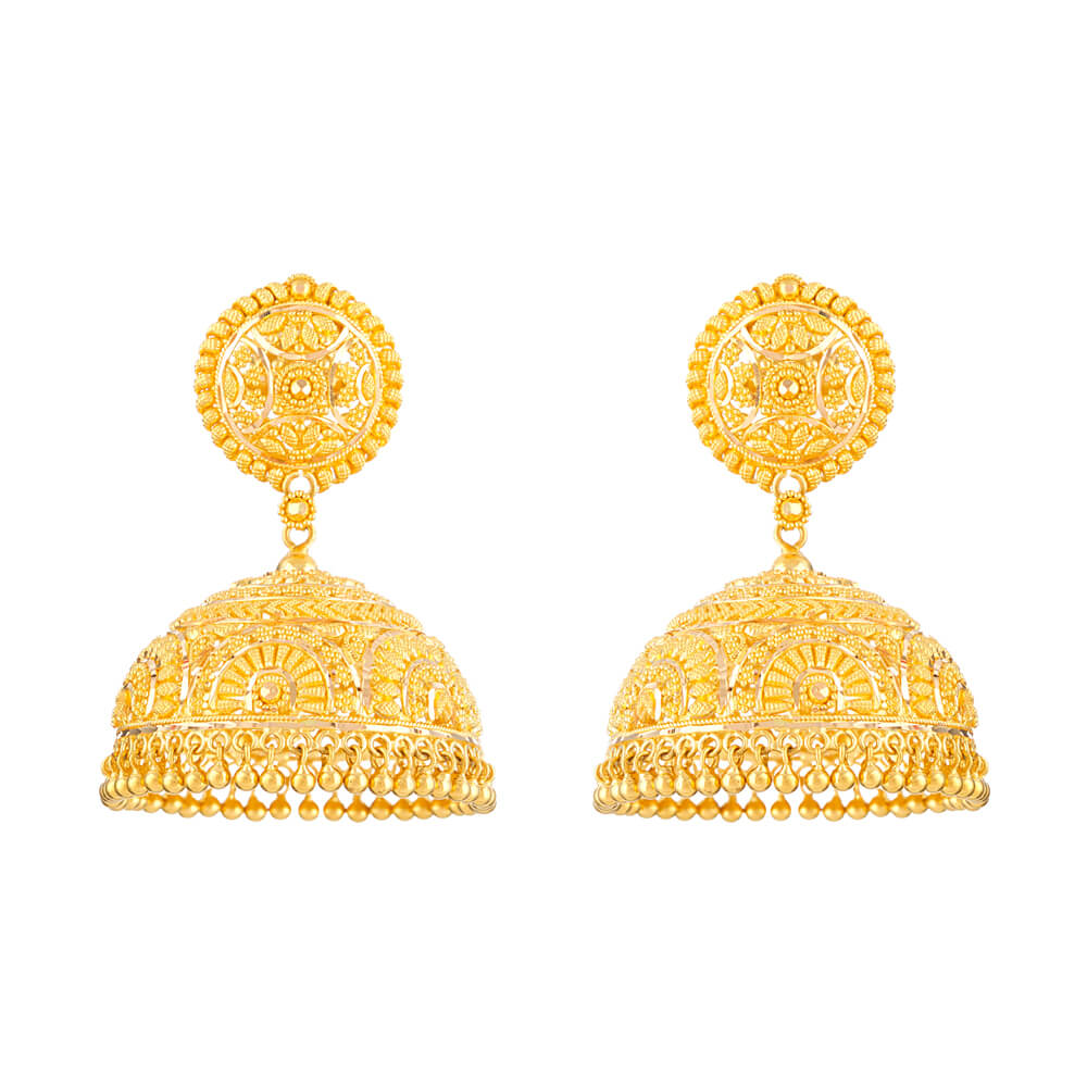 Jali 22ct Gold Filigree Earrings 2250 00 Sku 32364