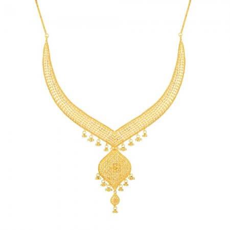 32377 - Jali 22ct Gold Filigree Necklace