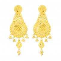 32380 - 22 Carat Gold Filigree Earring