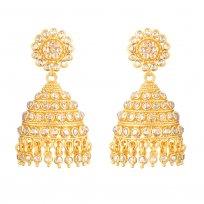 32662 - Diya 22ct Gold Uncut Polki Diamond Bridal Earring
