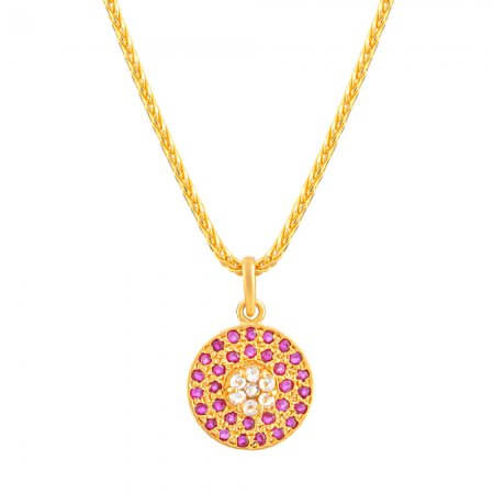 32686 - Diya 22ct Gold Uncut Polki Diamond Pendant