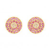 32687 - Diya 22ct Gold Stud Earring