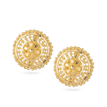 22ct Yellow Gold Stud Earrings