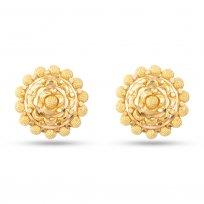 30476 - 22 Carat Gold Flower Inspired Stud