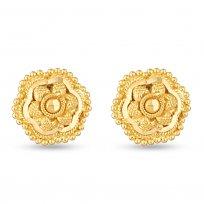 30715 - 22Kt Yellow Gold Filigree Stud Earring