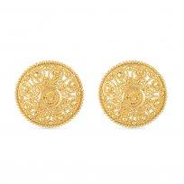 30775 - 22 Carat Gold Jali Stud Earring Uk