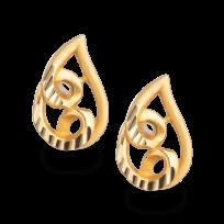 23438 - 22ct Gold Dew-Drop Stud Earring