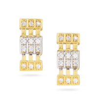 30008 - 22 Carat Gold Earrings With CZ Stones