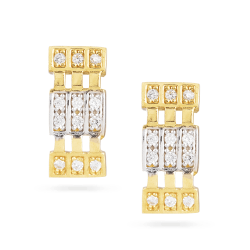 22 Carat Gold Earrings With Cubic Zirconia StonesStud Earrings with Rhodium finishSuitable For Party-wear, Occasion-wearMatching Pendant is available on particular themeWt. 4.3 gSKU. 30008All prices include VATAll our products are hallmarked by London Assay OfficeComes with presentation BoxFree delivery across UKContact us / chat with us for live video of product