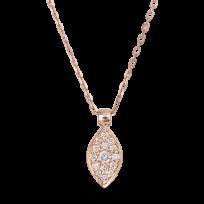 27736 - 18ct Rose Gold Necklace Diamond 0.11ct