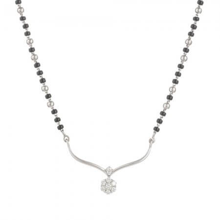 18ct White Gold Mangalsutra  7.28 gm Diamond 0.27ct