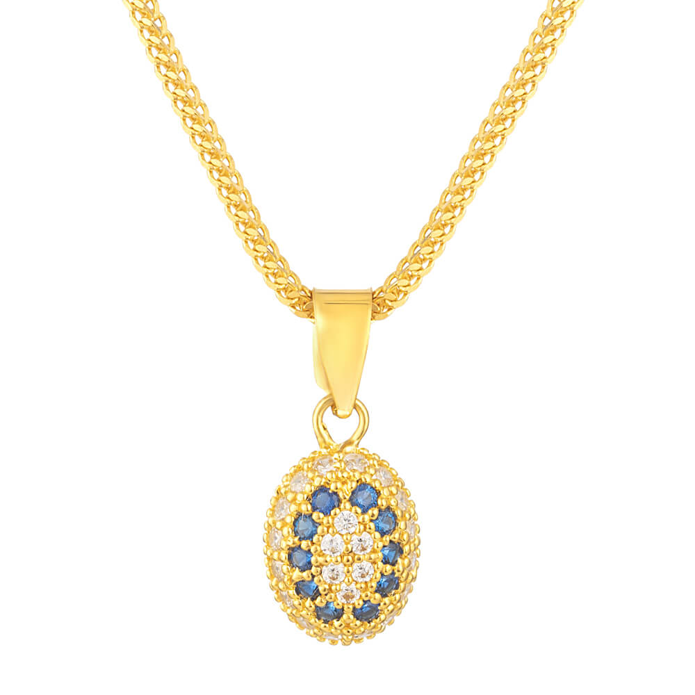 22ct Pendant Studded With Cubic-Zirconia StonesWt. 1.1 gSKU. 31424Chain not included.All prices include VATAll our Products are Hallmarked by London Assay OfficeAll Sets Comes With Presentation BoxDelivery IncludedContact us/live chat with us for the video of this product