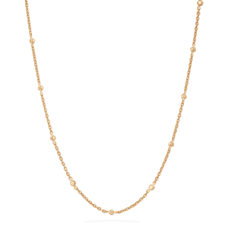 22 carat Gold Chain with Polki Stones | 20 inches