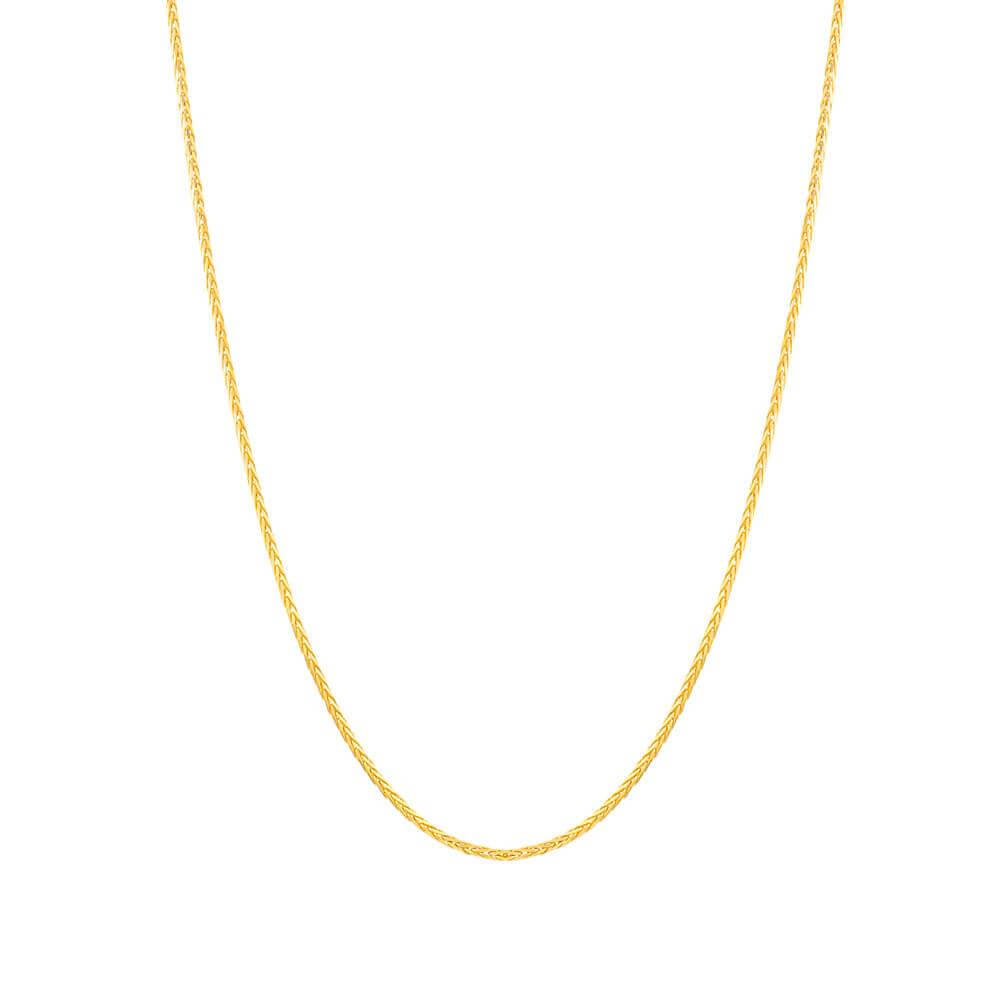 22ct Yellow Gold Spiga ChainWt: 8.9 gmsLength: 18? inchesThe width of the chain is 1.6mmSKU. 31814This is a Sold chain suitable to both men and women.All prices include VAT22ct GoldHallmarked by London Assay OfficeComes With Presentation BoxDelivery IncludedLive chat with us for availability and more images of similar designs currently in stock