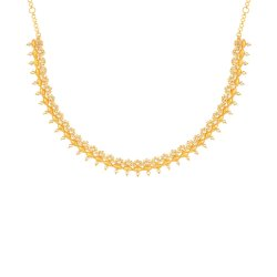 22ct Bridal Gold Necklace With Uncut Polki DiamondsChoker Necklace from our Diya CollectionUncut Polki Diamond wt. 4.30caratsWeight of the Necklace in 22ct gold is 23.7 gmsSku 32663All prices include VATAll our products are hallmarked by London Assay OfficeAll set comes with presentation BoxDelivery IncludedLive chat with us for availability and more images of similar designs currently in stock