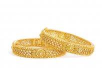22420 - 22ct Gold Polki Kadas