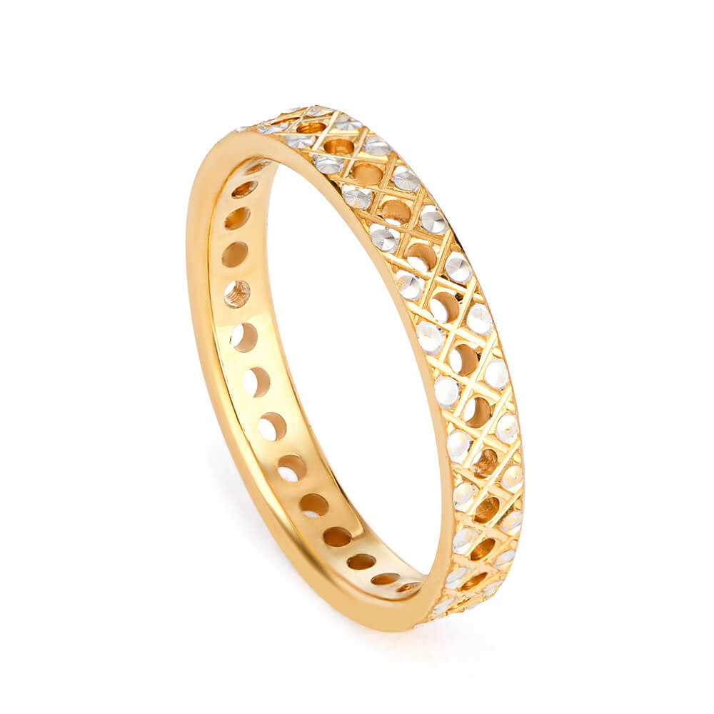 22ct Gold Band Ring with Rhodium PlatedRing wt. 2.7 gmsRing Size. J 1/2SKU. 32655Can be made to order to your finger sizeAll our products are hallmarked by London Assay OfficeComes With Presentation BoxDelivery IncludedAll prices include VATContact us / chat with us to see video of product