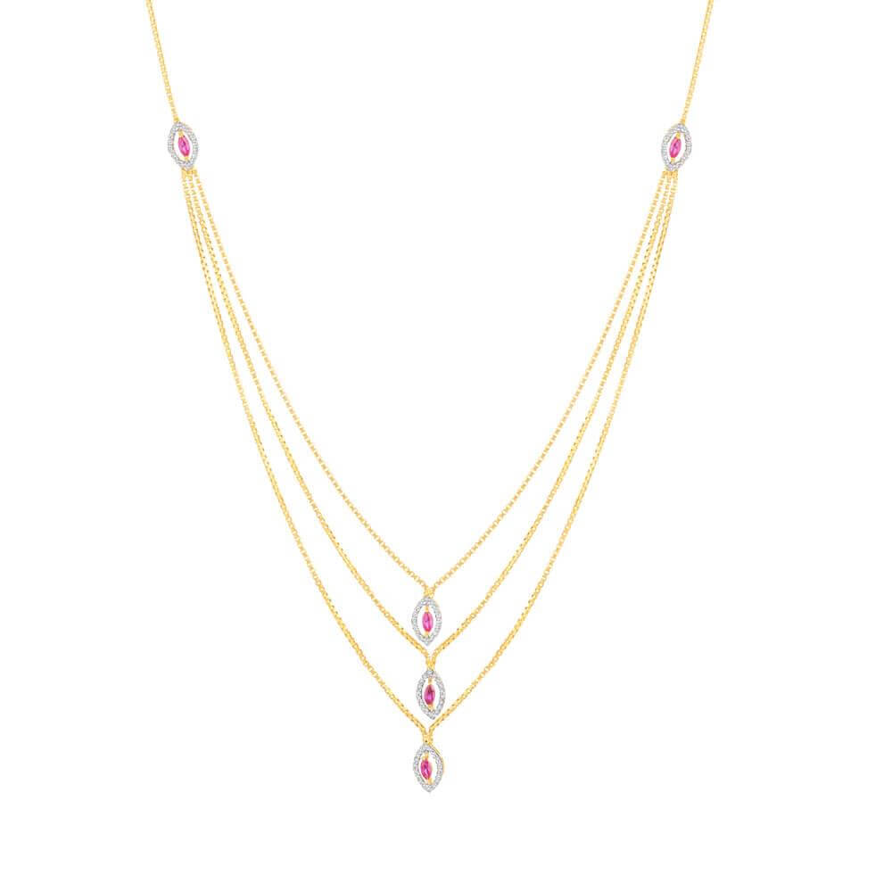 22 Carat Gold Choker NecklaceThree layered Choker Necklace with CZ PendantsWt. 9.8 gmSKU. 32722All prices include VATAll our Products are Hallmarked by London Assay officeAll Sets Comes With Presentation BoxDelivery IncludedContact us/live chat with us for video of product