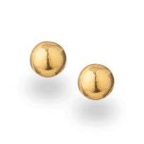 30902 - 22ct Plain gold stud Earring